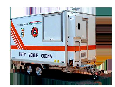 Cucina mobile su rimorchio trainabile