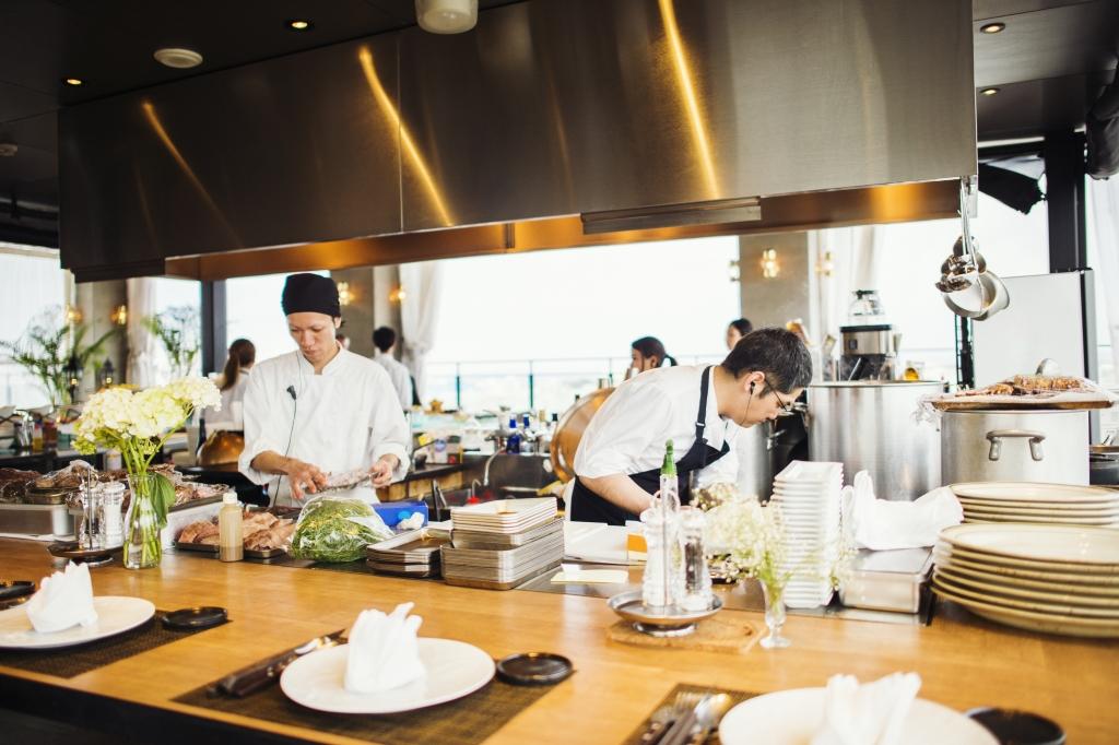 Ristorante orientale cucina a vista