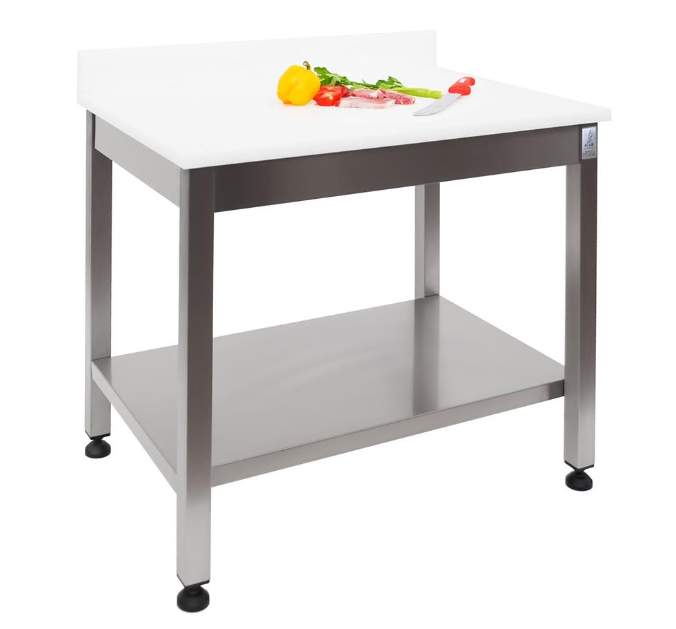 Tavolo aperto con piano in polietilene