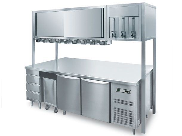 Tavolo refrigerato pasticceria