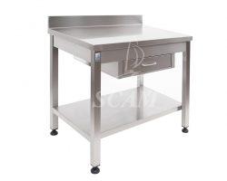 Tavolo aperto con cassetto piano con alzatina
