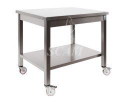 Tavolo aperto su ruote piano senza alzatina